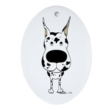 Big Nose Great Dane Ornament (Oval)