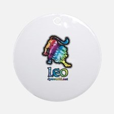 Zodiac Sign Leo Ornament (Round)