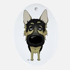 Big Nose German Shepherd Ornament (Oval)
