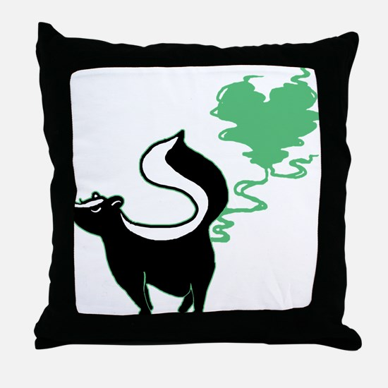 Stinky Love Skunk Throw Pillow