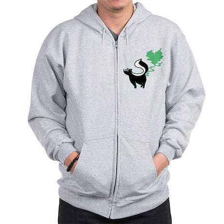 Stinky Love Skunk Zip Hoodie