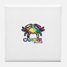 Zodiac Sign Cancer Tile Coaster