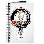Gray Clan Crest Badge Journal