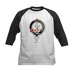 Gray Clan Crest Badge Kids Baseball Jersey