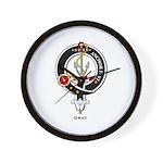 Gray Clan Crest Badge Wall Clock