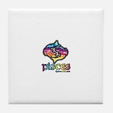 Zodiac Sign Pisces Tile Coaster