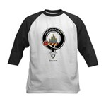 Grant Clan Crest Badge Kids Baseball Jersey