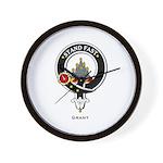 Grant Clan Crest Badge Wall Clock