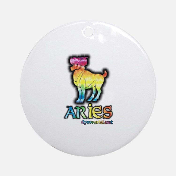 Zodiac Sign Aries Ornament (Round)