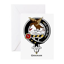 Graham Clan Crest Badge Greeting Cards (Package of