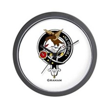 Graham Clan Crest Badge Wall Clock
