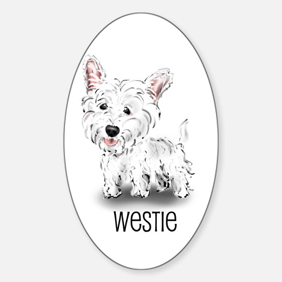 Westhighland White Terrier Oval Decal