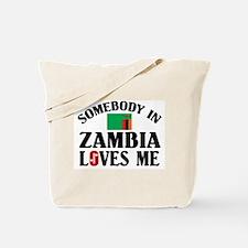 Somebody In Zambia Tote Bag