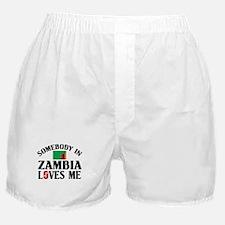 Somebody In Zambia Boxer Shorts