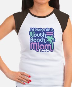 Rather Be In South Beach Women's Cap Sleeve T-Shir