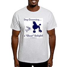 Grooming Shear Delight Ash Grey T-Shirt