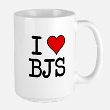 I HEART BJs Large Mug