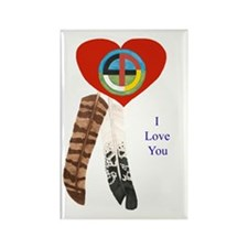 Indian Valentine's Day Rectangle Magnet