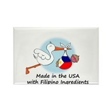 Stork Baby Philippines USA Rectangle Magnet