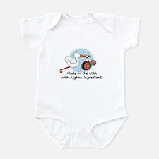 Stork Baby Afghanistan USA Infant Bodysuit