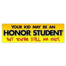 Cute Student Bumper Sticker