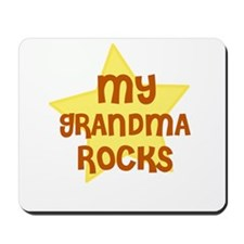 MY GRANDMA ROCKS Mousepad