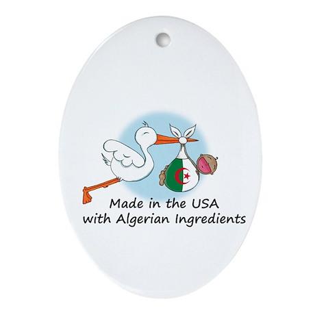 Stork Baby Algeria USA Ornament (Oval)