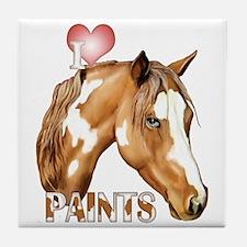I Love Paints Tile Coaster