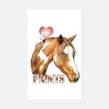 I Love Paints Sticker (Rectangle)