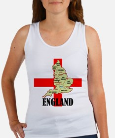 England Map Women's Tank Top