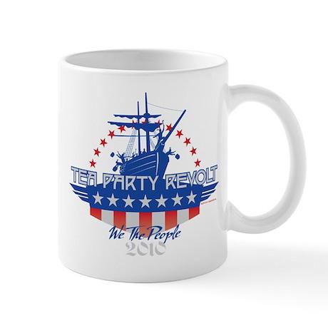 Tea Party Revolt 2010 (blue) Mug