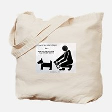Cute Dog poop Tote Bag