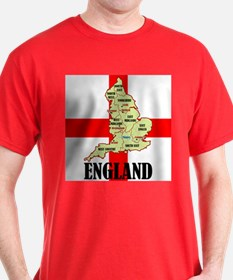 England Map T-Shirt