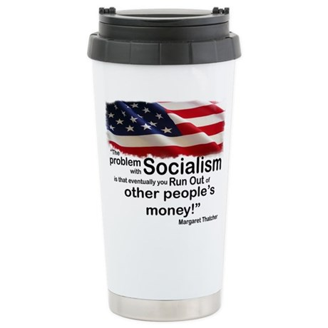 Problem with Socialism Stainless Steel Travel Mug