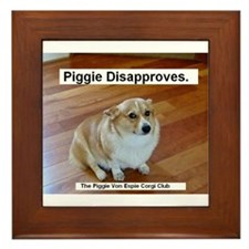 The Piggie Von Espie Framed Tile of Disapproval