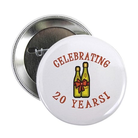 "20th Anniversary Wine Bow 2.25"" Button (100 pack)"