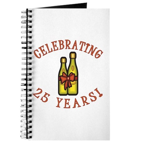 25th Anniversary Wine Bow Journal