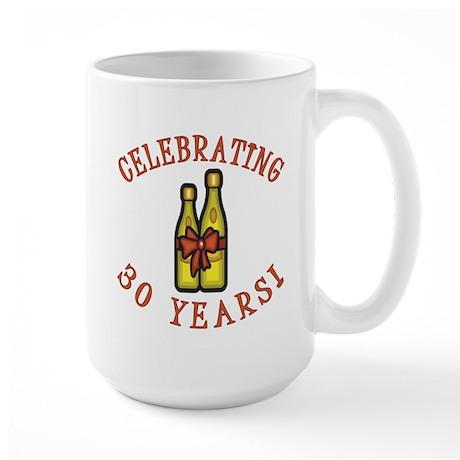 30th Anniversary Wine Bow Large Mug
