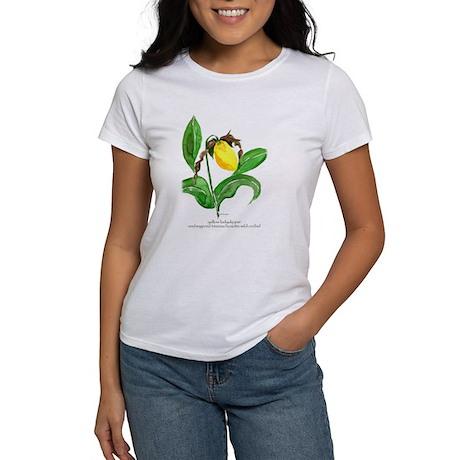 yellow ladyslipper flower T-Shirt