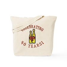 40th Anniversary Wine Bow Tote Bag