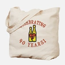 40th Anniversary Wine Bow Tote Bag