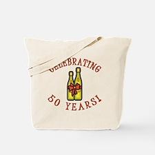 50th Anniversary Wine Bow Tote Bag