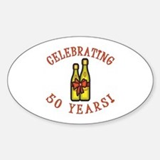 50th Anniversary Wine Bow Decal