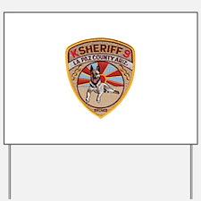 La Paz County Sheriff K9 Yard Sign