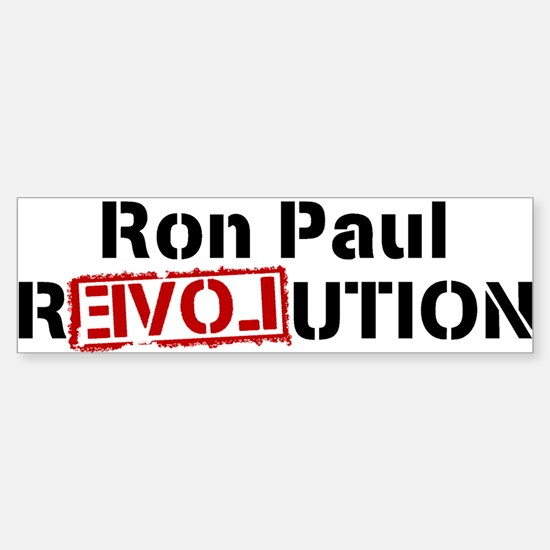 Ron Paul Revolution Large Banner Bumper Car Car Sticker