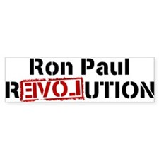 Ron Paul Revolution Large Banner Bumper Car Sticker