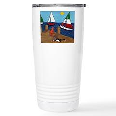 Cats and Sailboats Travel Mug