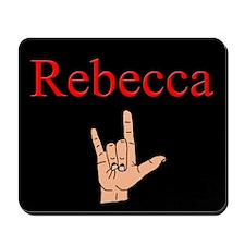 Rebecca ASL Mousepad