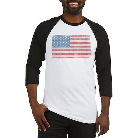 Vintage American Flag Baseball Jersey