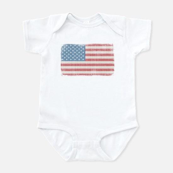 Vintage American Flag Infant Bodysuit